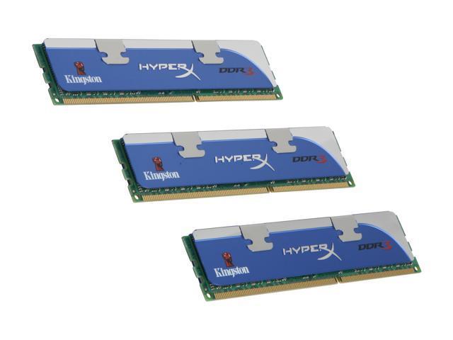 HyperX 6GB (3 x 2GB) 240-Pin DDR3 SDRAM DDR3 1600 (PC3 12800) Triple Channel Kit Desktop Memory Model KHX12800D3LLK3/6GX