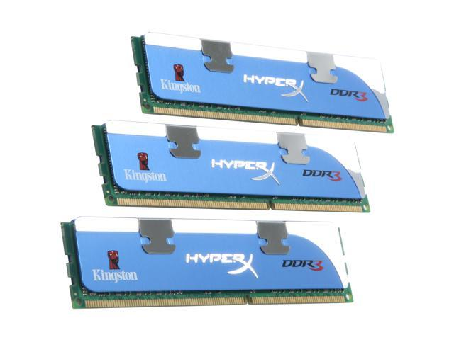HyperX 12GB (3 x 4GB) 240-Pin DDR3 SDRAM DDR3 1600 (PC3 12800) Desktop Memory Model KHX12800D3K3/12GX