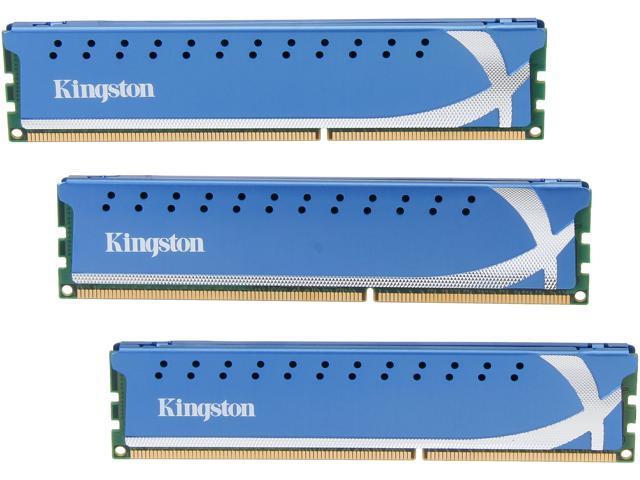 HyperX 6GB (3 x 2GB) 240-Pin DDR3 SDRAM DDR3 1600 (PC3 12800) Desktop Memory Model KHX1600C9D3K3/6GX
