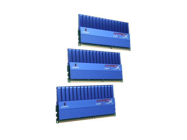 HyperX T1 Series 6GB (3 x 2GB) 240-Pin DDR3 SDRAM DDR3 2000 (PC3 16000) Desktop Memory Model KHX2000C8D3T1K3/6GX