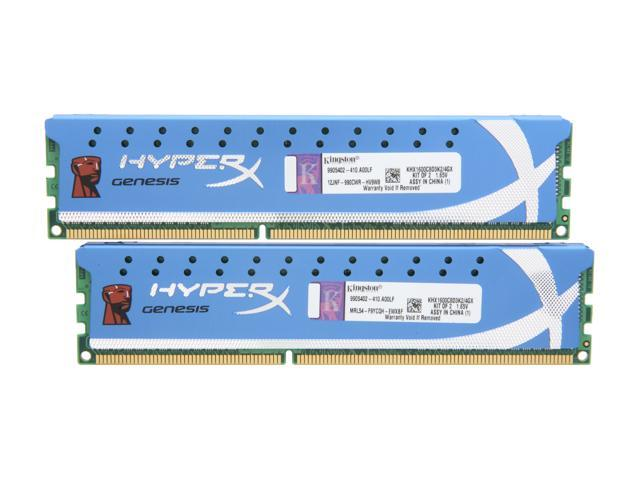 HyperX 4GB (2 x 2GB) 240-Pin DDR3 SDRAM DDR3 1600 (PC3 12800) Desktop Memory Model KHX1600C8D3K2/4GX