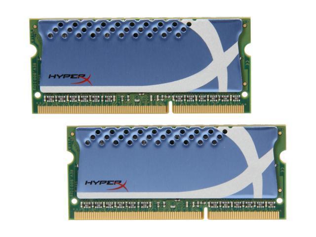 HyperX HyperX 4GB (2 x 2GB) 204-Pin DDR3 SO-DIMM DDR3 1600 (PC3 12800) Laptop Memory Model KHX1600C9S3K2/4GX