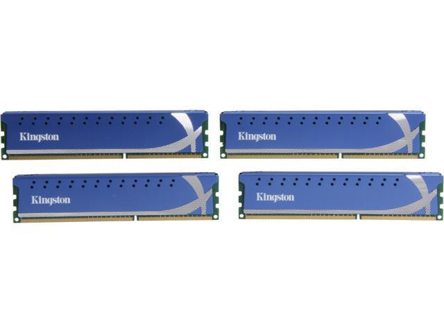 HyperX 16GB (4 x 4GB) 240-Pin DDR3 SDRAM DDR3 1600 (PC3 12800) Desktop Memory Model KHX1600C9D3K4/16GX