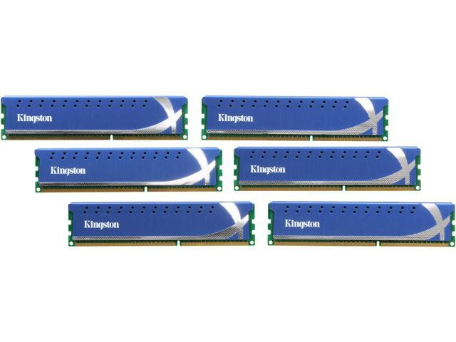 HyperX 24GB (6 x 4GB) 240-Pin DDR3 SDRAM DDR3 1600 (PC3 12800) Desktop Memory Model KHX1600C9D3K6/24GX