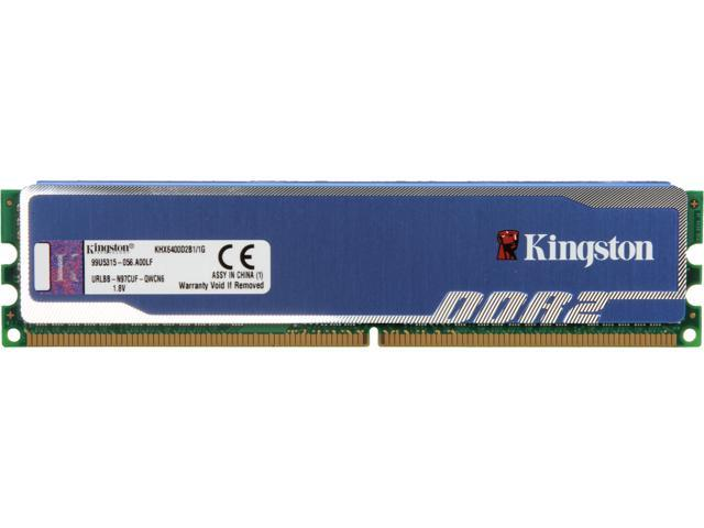 HyperX Blu 1GB 240-Pin DDR2 SDRAM DDR2 800 (PC2 6400) Desktop Memory Model KHX6400D2B1/1G