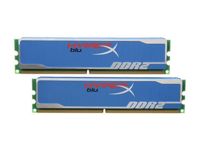 HyperX Blu 2GB (2 x 1GB) 240-Pin DDR2 SDRAM DDR2 800 (PC2 6400) Desktop Memory Model KHX6400D2B1K2/2G
