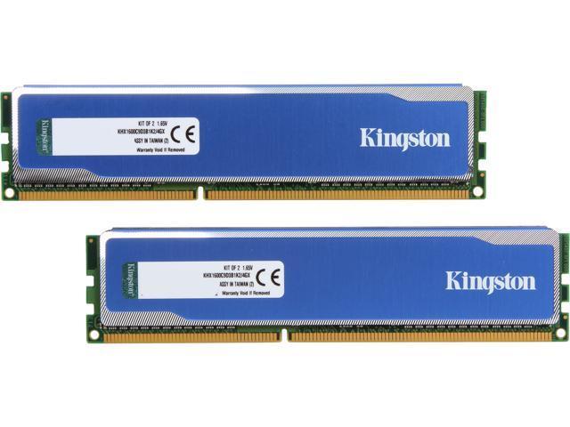 HyperX Blu 4GB (2 x 2GB) 240-Pin DDR3 SDRAM DDR3 1600 (PC3 12800) Desktop Memory Model KHX1600C9D3B1K2/4GX