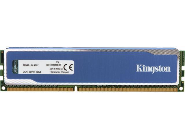 HyperX Blu 2GB 240-Pin DDR3 SDRAM DDR3 1333 Desktop Memory Model KHX1333C9D3B1/2G