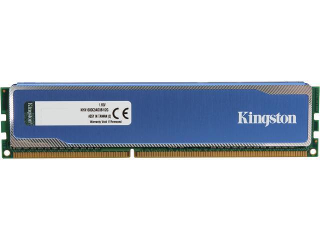 HyperX Blu 2GB 240-Pin DDR3 SDRAM DDR3 1600 (PC3 12800) Desktop Memory Model KHX1600C9AD3B1/2G