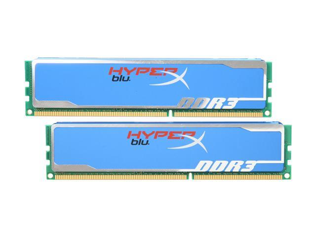 HyperX Blu 2GB (2 x 1GB) 240-Pin DDR3 SDRAM DDR3 1600 (PC3 12800) Desktop Memory Model KHX1600C9AD3B1K2/2G
