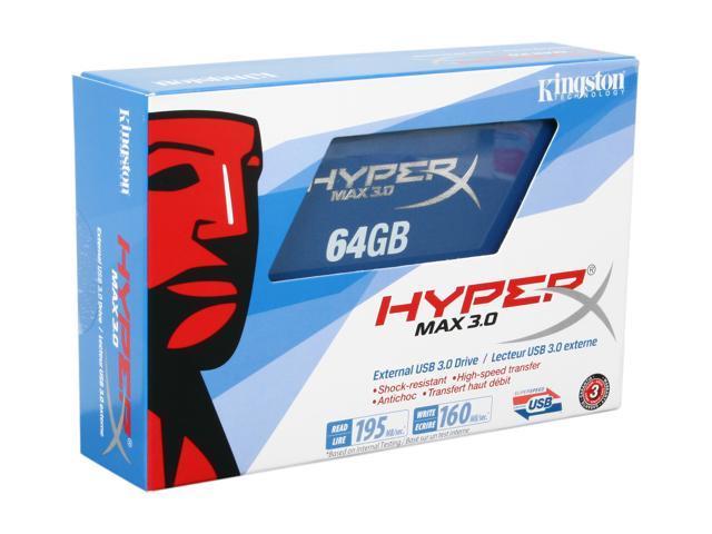 HyperX MAX 3.0 64GB External USB 3.0 Flash Drive Model SHX100U3/64G