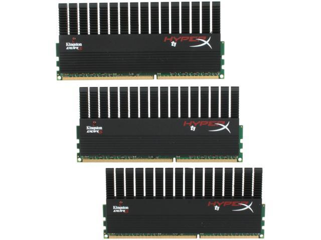 HyperX T1 Black Series 6GB (3 x 2GB) 240-Pin DDR3 SDRAM DDR3 1600 (PC3 12800) Desktop Memory Model KHX1600C9D3T1BK3/6GX