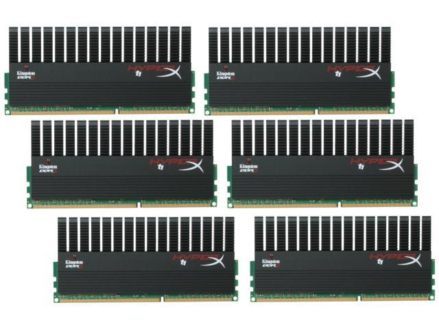 HyperX T1 Black Series 24GB (6 x 4GB) 240-Pin DDR3 SDRAM DDR3 1600 (PC3 12800) Desktop Memory Model KHX1600C9D3T1BK6/24GX