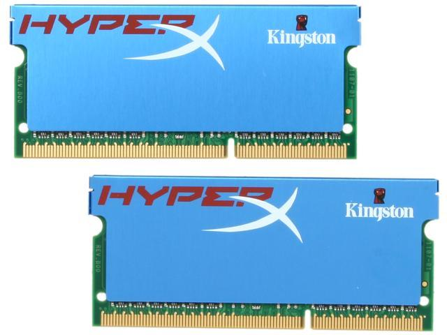 HyperX 8GB (2 x 4GB) 204-Pin DDR3 SO-DIMM DDR3 1600 (PC3 12800) Laptop Memory Model KHX1600C9S3K2/8G