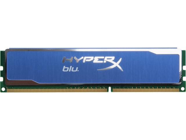 HyperX Blu 4GB 240-Pin DDR3 SDRAM DDR3 1600 (PC3 12800) Desktop Memory Model KHX1600C9D3B1/4G