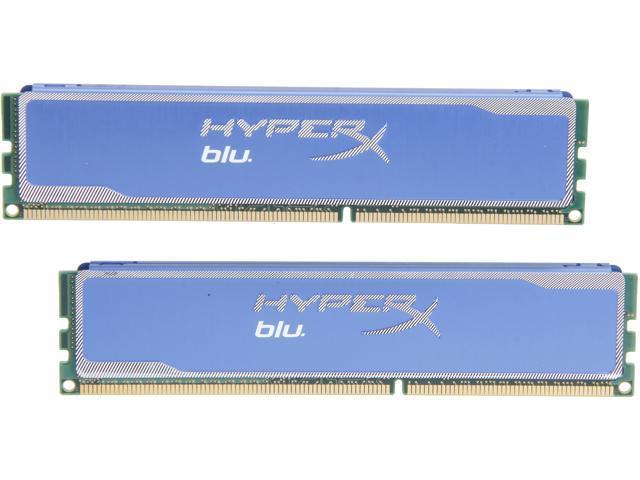 HyperX Blu 8GB (2 x 4GB) 240-Pin DDR3 SDRAM DDR3 1600 (PC3 12800) Desktop Memory Model KHX1600C9D3B1K2/8GX