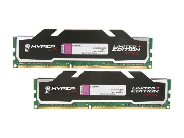 HyperX 8GB (2 x 4GB) 240-Pin DDR3 SDRAM DDR3 1600 (PC3 12800) Desktop Memory Model KHX1600C9D3X1K2/8GX