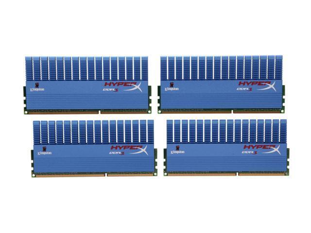 HyperX 16GB (4 x 4GB) 240-Pin DDR3 SDRAM DDR3 1866 Desktop Memory XMP T1 Series Model KHX18C9T1K4/16X
