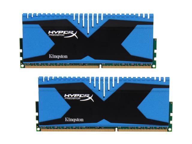 HyperX Predator Series 8GB (2 x 4GB) 240-Pin DDR3 SDRAM DDR3 1600 Desktop Memory Model KHX16C9T2K2/8X