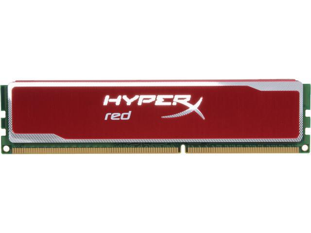 HyperX Blu Red Series 4GB 240-Pin DDR3 SDRAM DDR3 1600 Desktop Memory Model KHX16C9B1R/4
