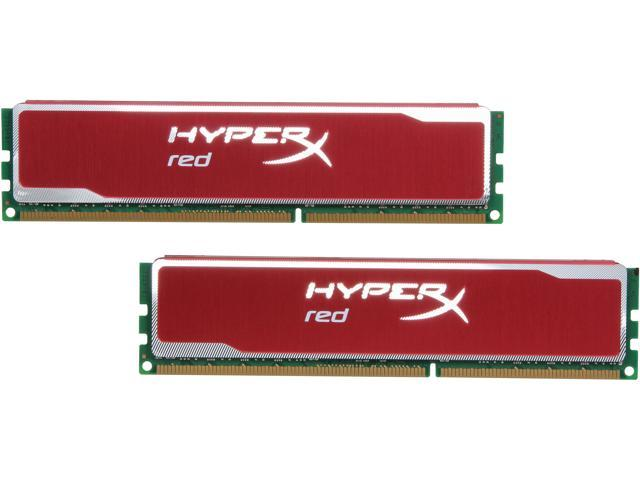 HyperX Blu Red Series 16GB (2 x 8GB) 240-Pin DDR3 SDRAM DDR3 1600 Desktop Memory Model KHX16C10B1RK2/16