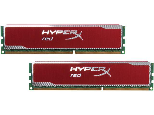 HyperX XMP Blu Red Series 16GB (2 x 8GB) 240-Pin DDR3 SDRAM DDR3 1600 Desktop Memory Model KHX16C10B1RK2/16X