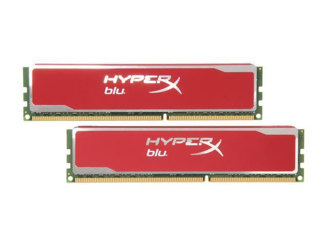 HyperX Blu Red Series 4GB (2 x 2GB) 240-Pin DDR3 SDRAM DDR3 1333 Desktop Memory Model KHX13C9B1RK2/4