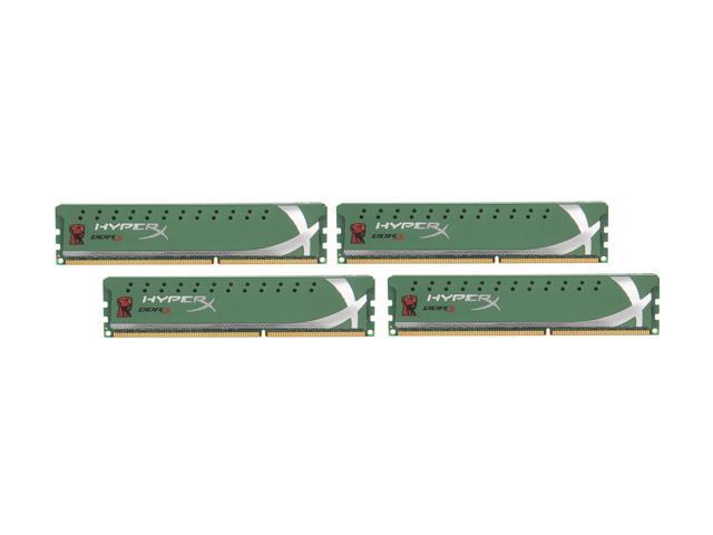 HyperX 32GB (4 x 8GB) 240-Pin DDR3 SDRAM DDR3 1600 Desktop Memory 1.35V Low Voltage XMP Model KHX16LC9K4/32X