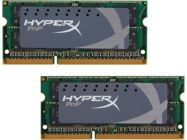 HyperX 16GB (2 x 8G) 204-Pin DDR3 SO-DIMM DDR3L 1600 (PC3L 12800) Laptop Memory Model KHX16LS9P1K2/16