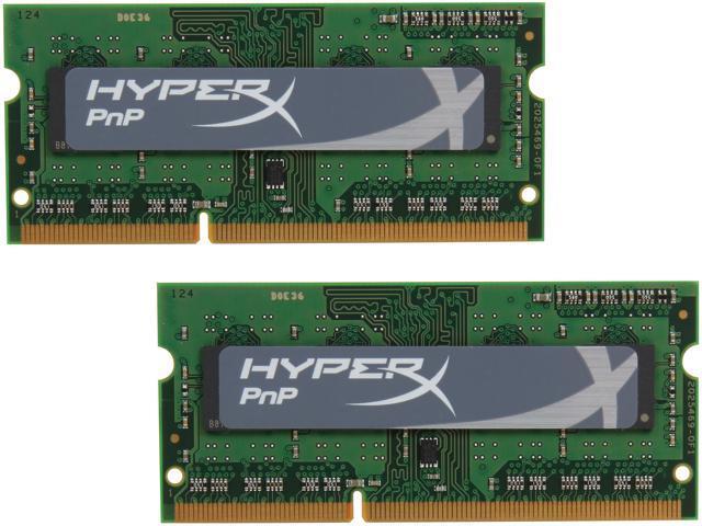 HyperX 8GB (2 x 4GB) 204-Pin DDR3 SO-DIMM DDR3L 1600 (PC3L 12800) Laptop Memory Model KHX16LS9P1K2/8