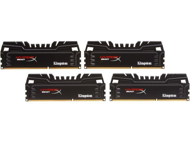 HyperX Beast 16GB (4 x 4GB) 240-Pin DDR3 SDRAM DDR3 2400 (PC3 19200) Desktop Memory Model KHX24C11T3K4/16X