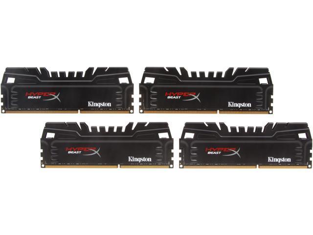 HyperX Beast 32GB (4 x 8GB) 240-Pin DDR3 SDRAM DDR3 2400 (PC3 19200) Desktop Memory Model KHX24C11T3K4/32X