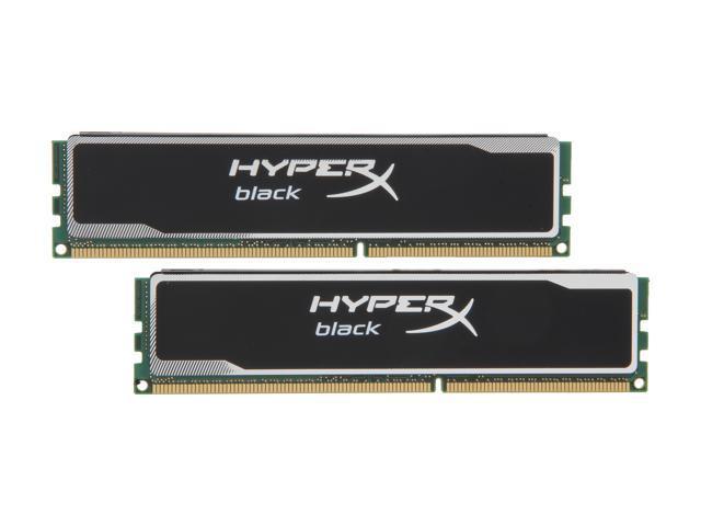 HyperX Black Series 4GB (2 x 2GB) 240-Pin DDR3 SDRAM DDR3 1600 (PC3 12800) Desktop Memory Model KHX16C9B1BK2/4