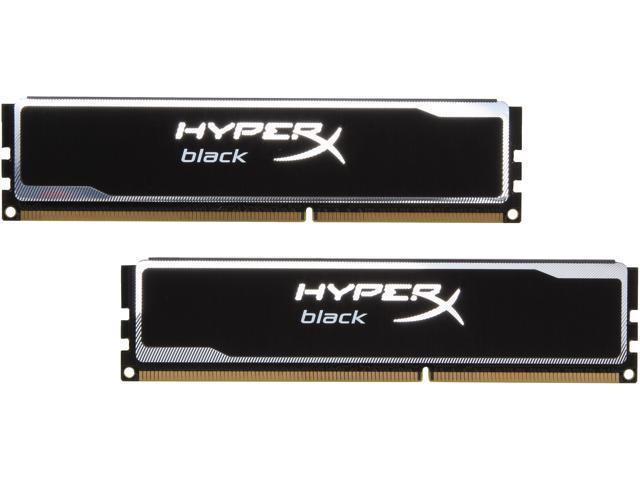HyperX Black Series 8GB (2 x 4GB) 240-Pin DDR3 SDRAM DDR3 1600 (PC3 12800) Desktop Memory Model KHX16C9B1BK2/8