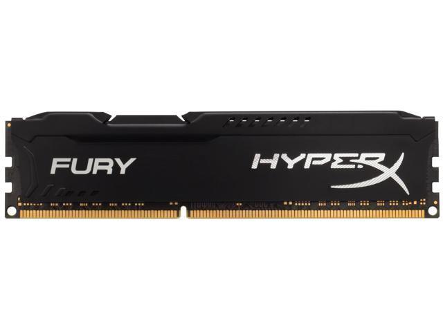 HyperX Fury 8GB (2 x 4GB) 240-Pin DDR3 SDRAM DDR3 1600 (PC3 12800) Desktop Memory Model KHX16C10F1K2/8