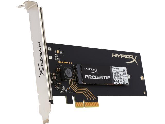 HyperX Predator Half-Height, Half-Length (HH-HL) 480GB PCI-Express 2.0 x4 Internal Solid State Drive (SSD) SHPM2280P2H/480G (with HHHL Adapter)