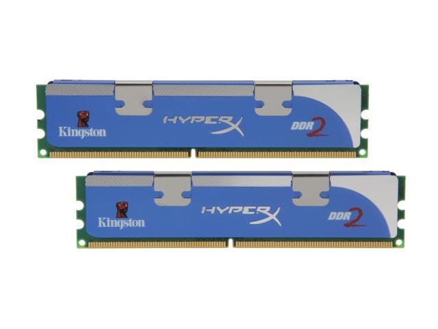 HyperX HyperX 2GB (2 x 1GB) 240-Pin DDR2 SDRAM DDR2 800 (PC2 6400) Dual Channel Kit Desktop Memory Model KHX6400D2LLK2/2G