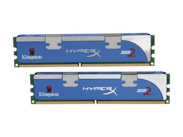 HyperX 2GB (2 x 1GB) 240-Pin DDR2 SDRAM DDR2 800 (PC2 6400) Dual Channel Kit Desktop Memory Model KHX6400D2LLK2/2GN
