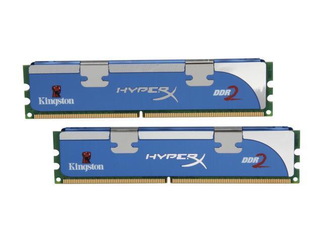 HyperX 2GB (2 x 1GB) 240-Pin DDR2 SDRAM DDR2 800 (PC2 6400) Dual Channel Kit Desktop Memory Model KHX6400D2LLK2/2GN