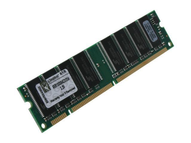 Kingston ValueRAM 256MB 168-Pin SDRAM PC 133 Desktop Memory Model KVR133X64C2/256