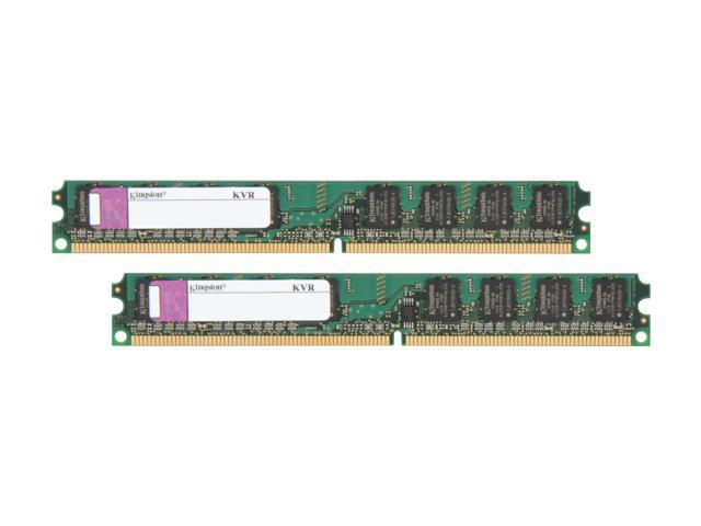 Kingston ValueRAM 2GB (2 x 1GB) 240-Pin DDR2 SDRAM DDR2 400 (PC2 3200) Dual Channel Kit Desktop Memory Model KVR400D2N3K2/2G
