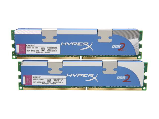 HyperX HyperX 2GB (2 x 1GB) 240-Pin DDR2 SDRAM DDR2 1066 (PC2 8500) Dual Channel Kit Desktop Memory Model KHX8500D2K2/2G