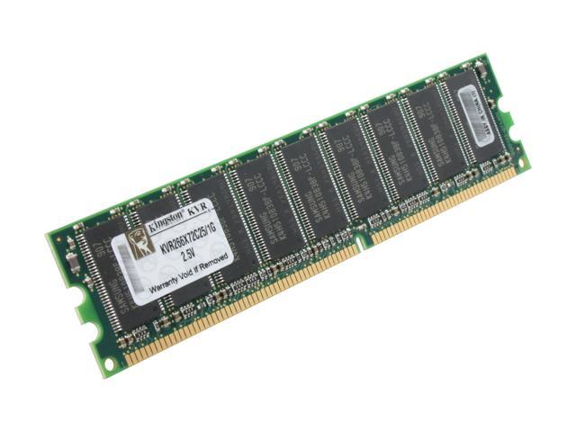 Kingston ValueRAM 1GB 184-Pin DDR SDRAM ECC Unbuffered DDR 266 (PC 2100) Server Memory Model KVR266X72C25/1G