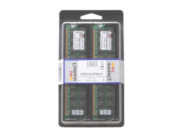Kingston 4GB (2 x 2GB) 240-Pin DDR2 SDRAM ECC Registered DDR2 667 (PC2 5300) Dual Channel Kit Server Memory Model KVR667D2D4P5K2/4G