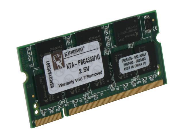 Kingston 1GB DDR 333 (PC 2700) Memory for Apple Notebook Model KTA-PBG4333/1G