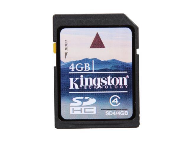 Kingston 4GB Secure Digital High-Capacity (SDHC) Flash Card Model SD4/4GB