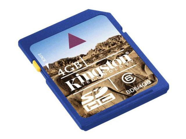 Kingston 4GB Secure Digital High-Capacity (SDHC) Flash Card Model SD6/4GB
