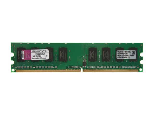 Kingston 1GB 240-Pin DDR2 SDRAM DDR2 800 (PC2 6400) Desktop Memory Model KVR800D2/1GR