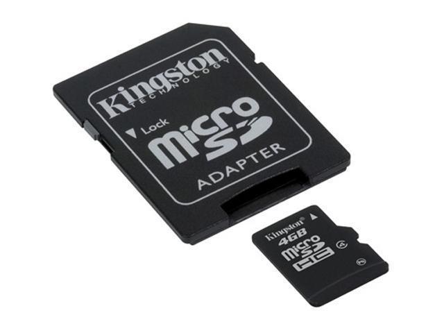 Kingston 4GB microSDHC Flash Card Model SDC4/4GBKR