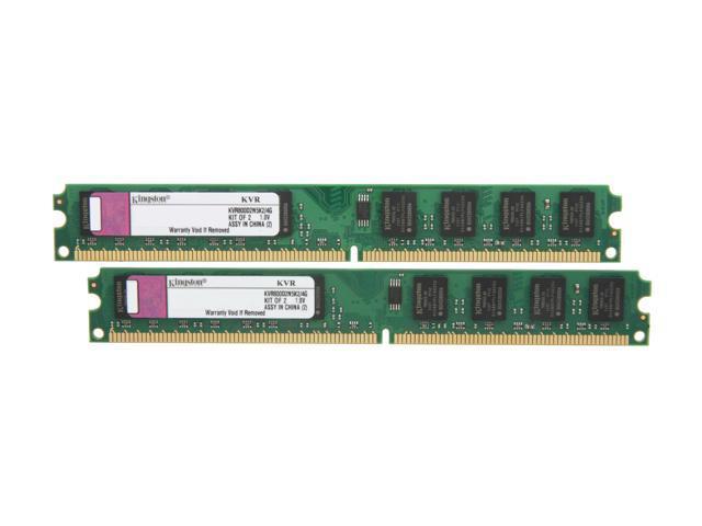 Kingston ValueRAM 4GB (2 x 2GB) 240-Pin DDR2 SDRAM DDR2 800 (PC2 6400) Dual Channel Kit Desktop Memory Model KVR800D2N5K2/4G